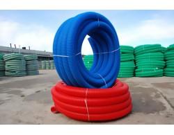 Труба двухстенная гофрированная  для ливневой канализации SN6     D=200 мм