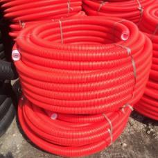 Труба двухстенная гофрированная для ливневой канализации ПНД D=110 мм