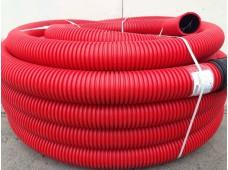 Труба одностенная гофрированная для ливневой канализации ПНД D 200 мм