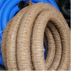 Однослойная дренажная труба в фильтре с кокосовой койрой