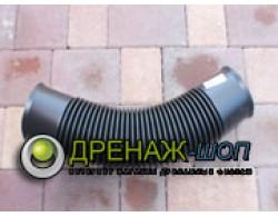 Гибкий раструбный отвод для ливневой трубы D=110 мм