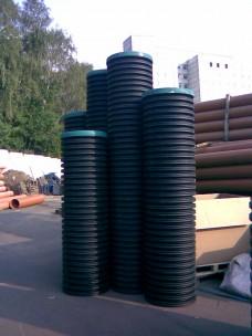 Смотровой коллекторный колодец с дном и крышкой диаметр 460 мм 3 м