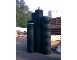 Дренажный пластиковый колодец  диаметром 695/600х6000 мм