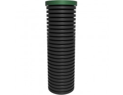 Смотровой коллекторный колодец с дном и крышкой диаметр 460 мм 1 м