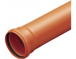 Труба раструбная ПВХ Д 110 ммДл 1м
