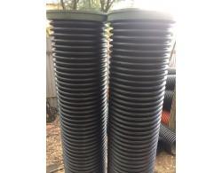 Дренажный пластиковый колодец диаметром 368/ 4000 мм(черный)(без люка)