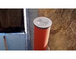 Дренажный  пластиковый  колодец  в сборе   с дном и крышкой  Д 800мм L 2000мм
