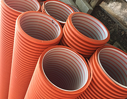 Дренажный пластиковый колодец диаметром 368/ 1000 мм(рыжий)(без люка)