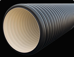 Дренажный пластиковый колодец диаметром 400/348х4000 мм