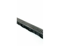 Лоток водоотводный пластик DN100 с пластиковой решеткой 1000х90х90