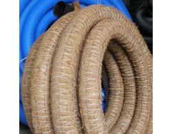 Однослойная дренажная труба в фильтре с кокосовой койрой Д90мм