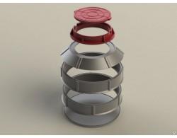 Конус полимерпесчаного сборного колодца (D=1 м)