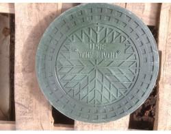 Люк для  дренажного колодца ПП 1.5 т диаметр 368 мм