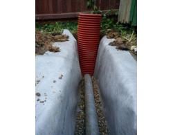 Дренажный пластиковый колодец диаметром 368/ 3000 мм(рыжий)(без люка)