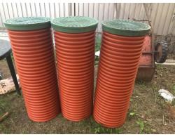Дренажный пластиковый колодец диаметром 368/ мм - 2000 мм(рыжий(без люка))
