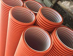 Дренажный пластиковый колодец диаметром 368/4000 мм(рыжий)(без люка)