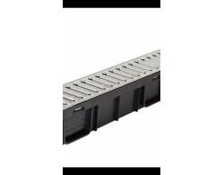 Лоток водоотводный пластик DN 100 со стальной оцинкованной решеткой 1000х134х95